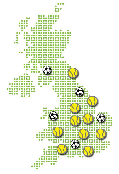 Nationwide installers of artificial tennis courts and MUGA sports pitches.